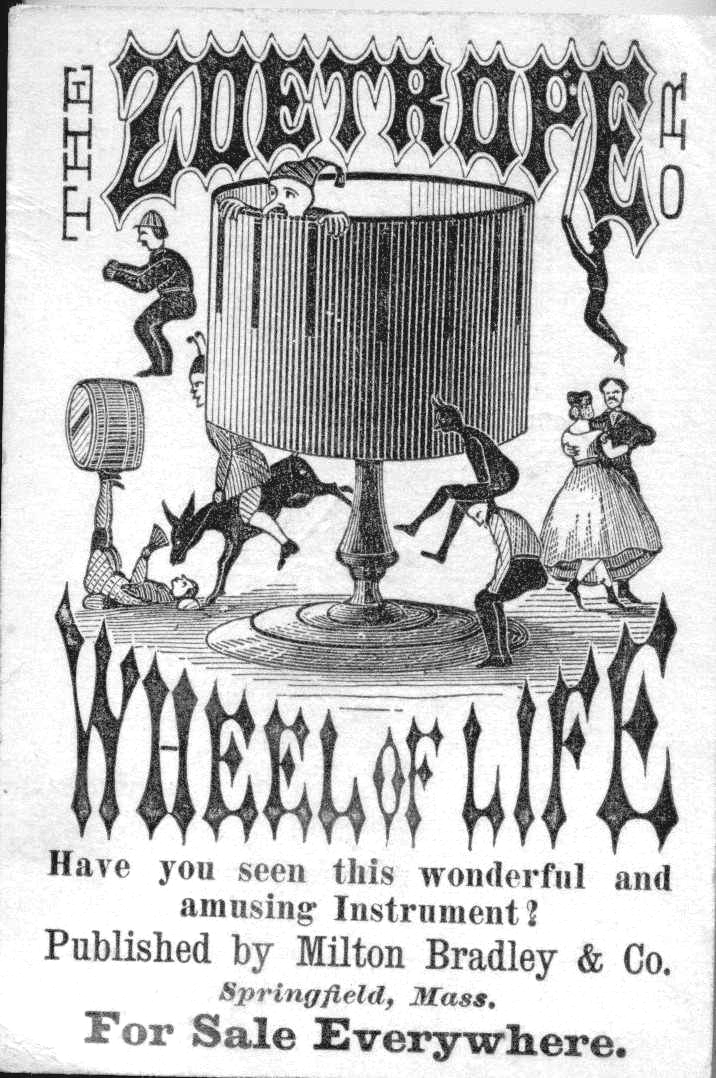 An early Milton Bradley Zoetrope Advert